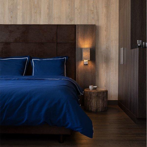 London - Marineblauw - Blauw - 140 x 200