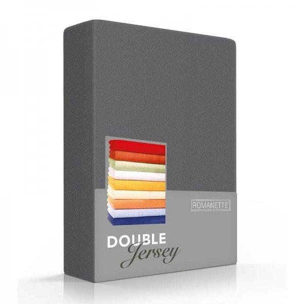 Luxe Dubbel Jersey Hoeslaken - Antraciet - 100 x 200