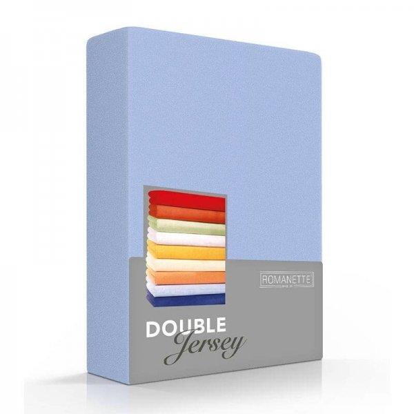 Luxe Dubbel Jersey Hoeslaken - Blauw - 160 x 200