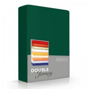 Luxe Dubbel Jersey Hoeslaken - Donkergroen - Groen - 180 x 200