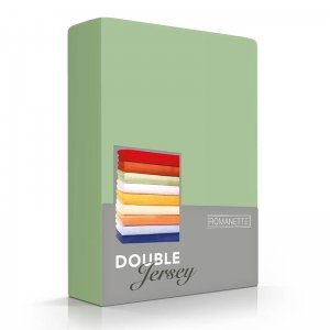 Luxe Dubbel Jersey Hoeslaken - Lichtgroen - Groen - 180 x 200