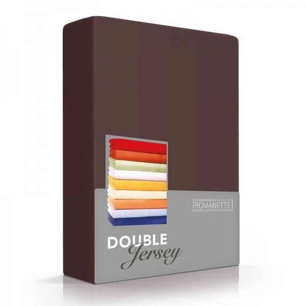 Luxe Dubbel Jersey Hoeslaken - Mahonie - Bruin - 100 x 200