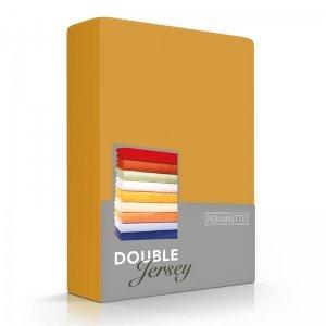 Luxe Dubbel Jersey Hoeslaken - Okergeel - Geel - 160 x 200