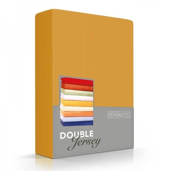 Luxe Dubbel Jersey Hoeslaken - Okergeel - Geel - 180 x 200