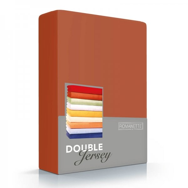 Luxe Dubbel Jersey Hoeslaken - Terra - 160 x 200