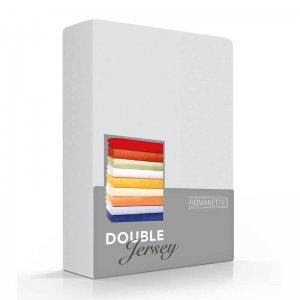 Luxe Dubbel Jersey Hoeslaken - Zilver - Grijs - 220 x 200