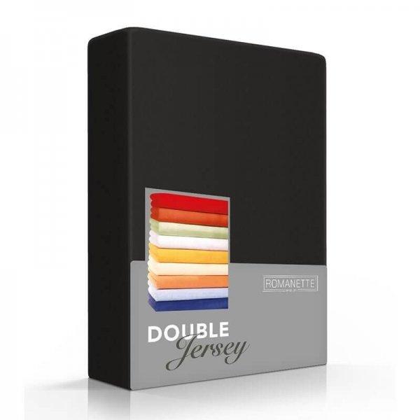 Luxe Dubbel Jersey Hoeslaken - Zwart - 220 x 200