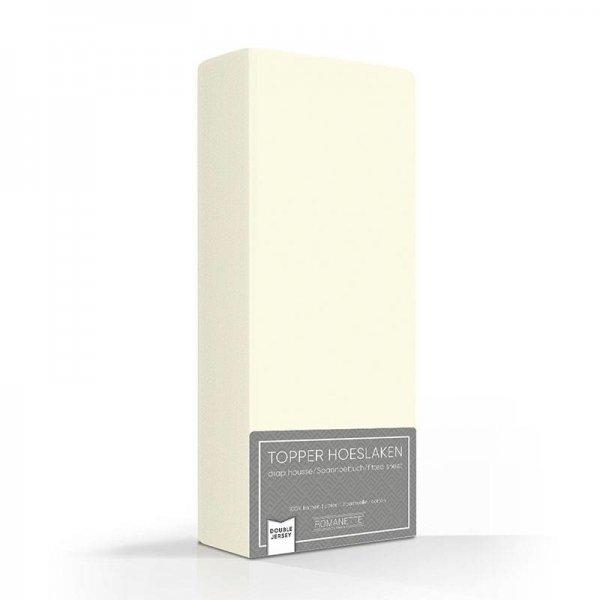 Luxe Dubbel Jersey Topper Hoeslaken - Ivoor - Creme - 100 x 200