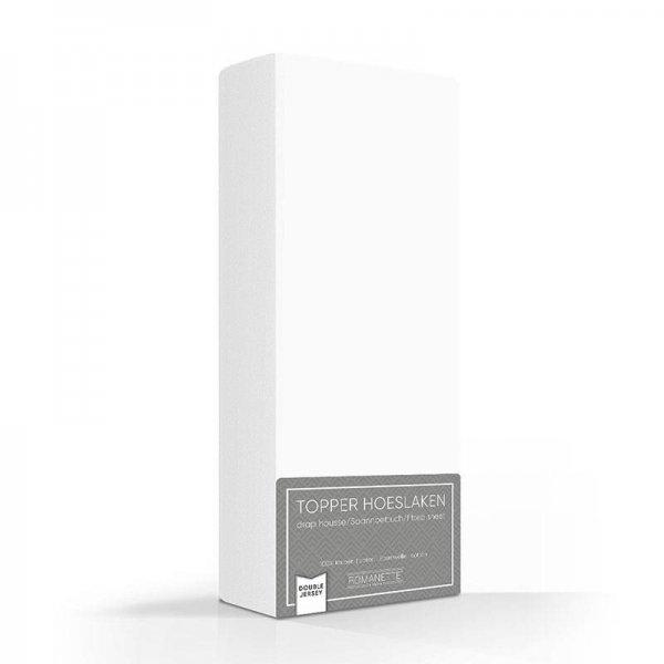 Luxe Dubbel Jersey Topper Hoeslaken - Wit - 100 x 200