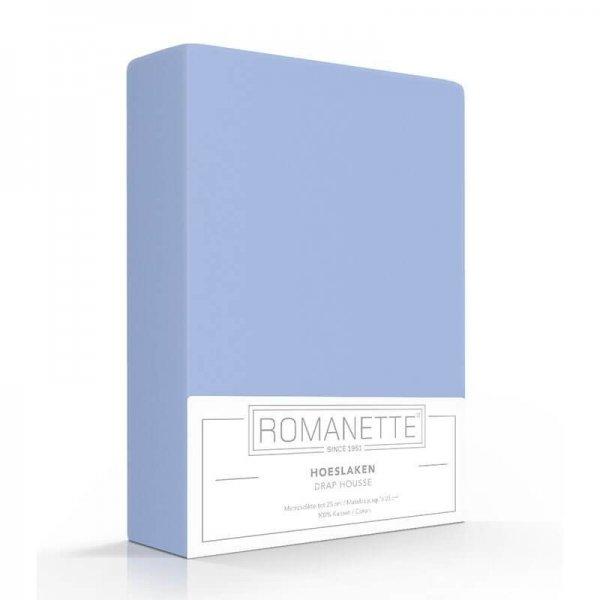 Luxe Hoeslaken Katoen - Blauw - 180 x 220