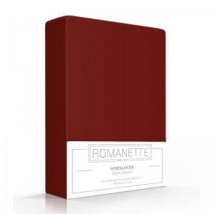 Luxe Hoeslaken Katoen - Bordeaux - Rood - 80 x 200