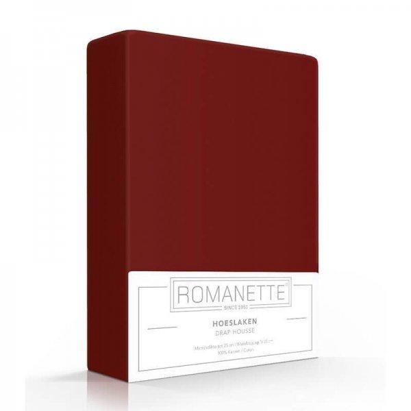 Luxe Hoeslaken Katoen - Bordeaux - Rood - 120 x 200