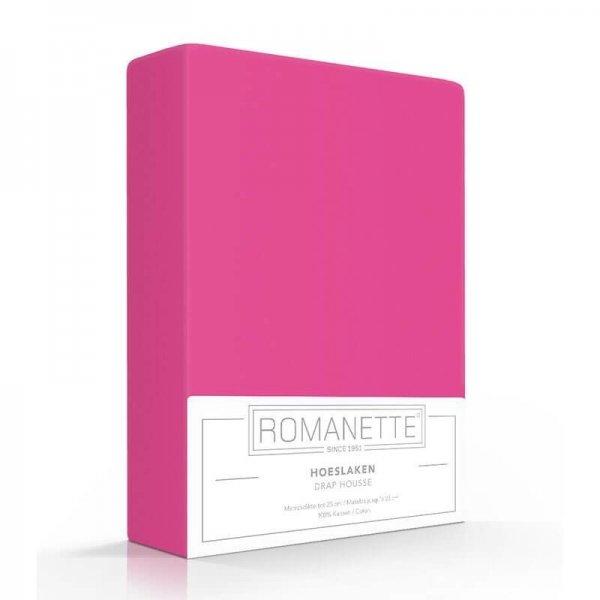 Luxe Hoeslaken Katoen - Fuchsia - Roze - 80 x 200