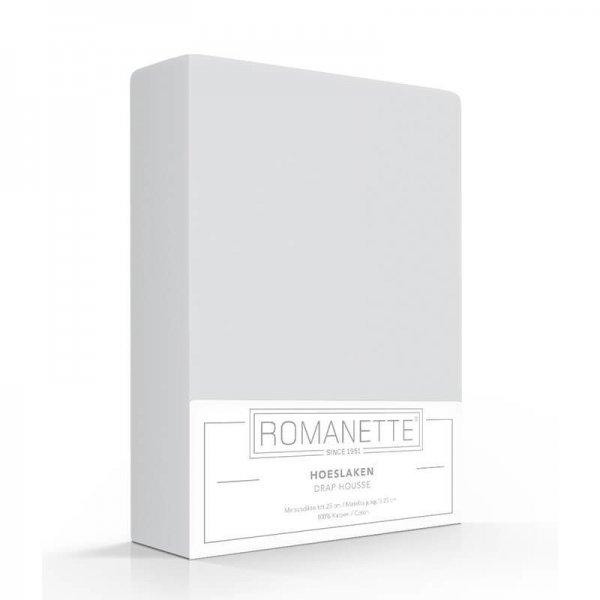 Luxe Hoeslaken Katoen - Zilver - Grijs - 80 x 200