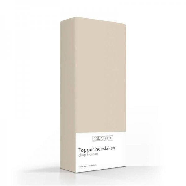 Luxe Katoenen Topper Hoeslaken - Camel - Taupe - 70 x 200