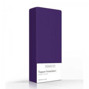 Luxe Katoenen Topper Hoeslaken - Paars - 70 x 200