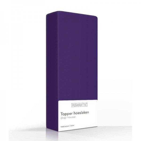 Luxe Katoenen Topper Hoeslaken - Paars - 90 x 200