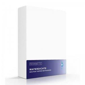 Luxe Waterdicht Molton Topper Hoeslaken - Wit - 120 x 200