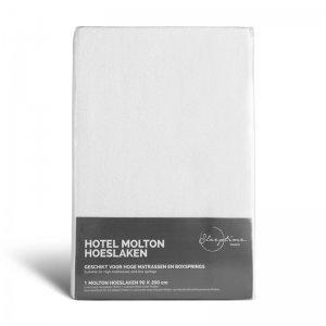 Molton Hoeslaken - Wit - 90 x 220