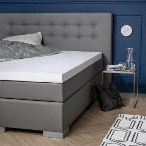 Molton Sanfor Topper Hoeslaken - Platinum - Wit - 70 x 190
