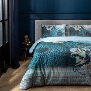Mysterious Leopard - Blauw - 140 x 220