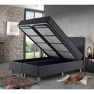 Opbergboxspring Space - Antraciet - 160 x 200