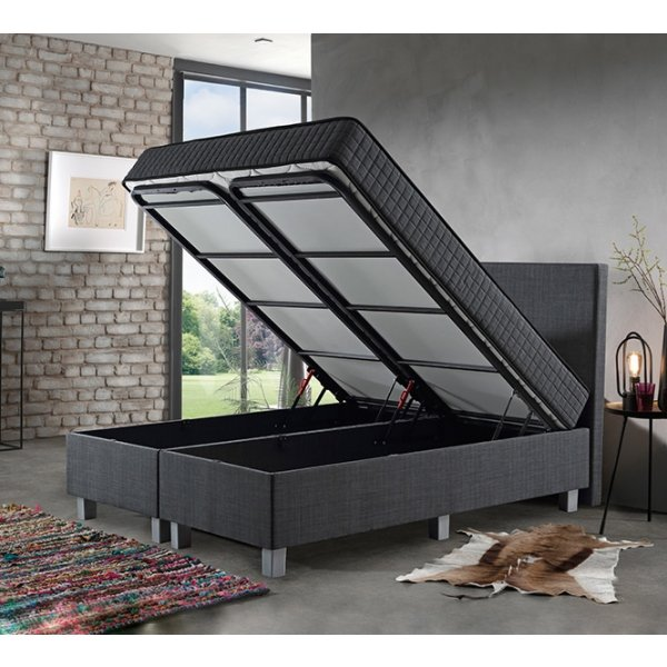 Opbergboxspring Space - Antraciet - 90 x 200