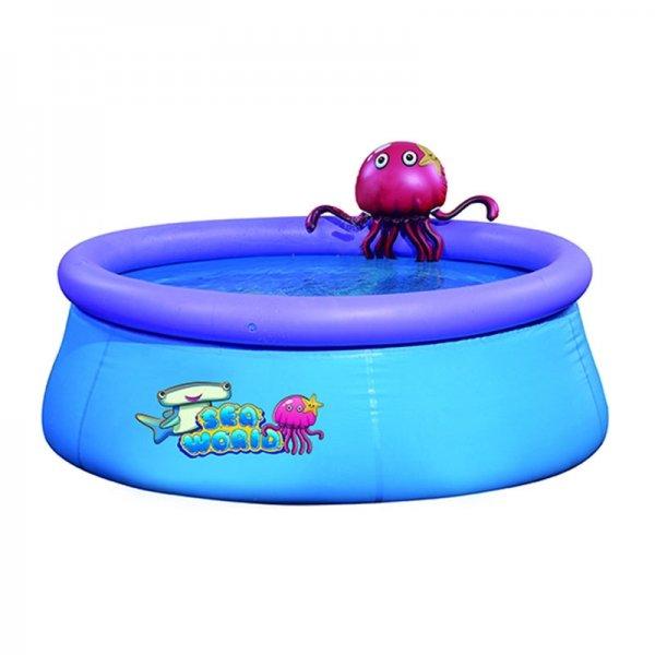 Opblaasbaar Zwembad - Octopus - Blauw