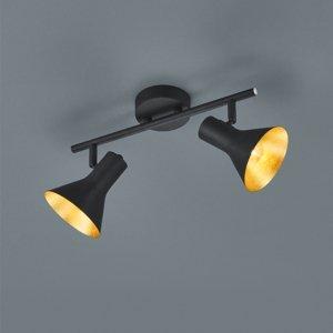 Plafondlamp Nina - Metaal - 2 Lichtbronnen - Zwart