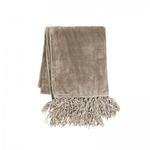 Plaid - Fluffy - Taupe