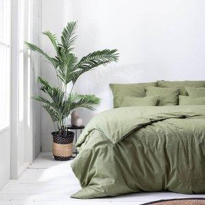 Plain Percale - Olijfgroen - Groen - 140 x 200