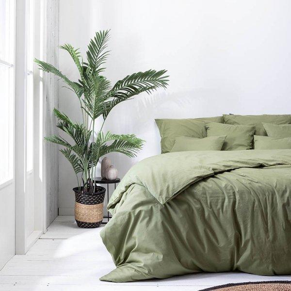 Plain Percale - Olijfgroen - Groen - 200 x 200