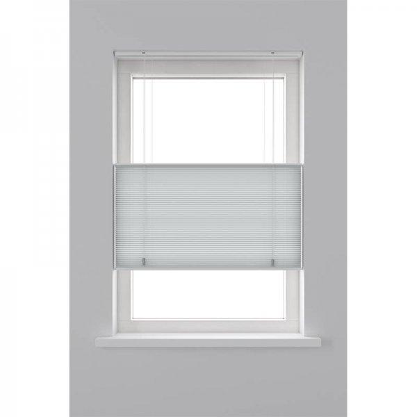 Plisségordijn Lichtdoorlatend Dupli - Top Down Bottom Up - Licht Grijs - 80 x 180