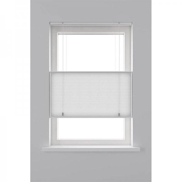 Plisségordijn Lichtdoorlatend Dupli - Top Down Bottom Up - Wit - 100 x 180