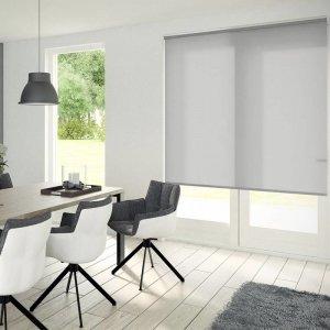 Rolgordijn Lichtdoorlatend - Antraciet - 150 x 190