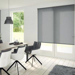 Rolgordijn Lichtdoorlatend - Antraciet - 80 x 190