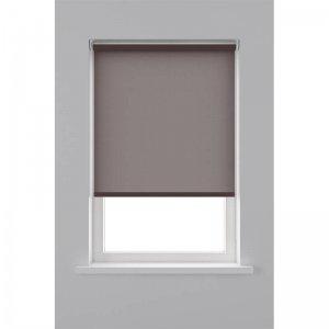 Rolgordijn Lichtdoorlatend - Bruin - 90 x 190