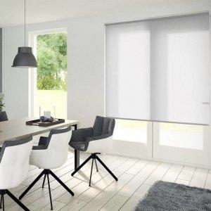 Rolgordijn Lichtdoorlatend - Gebroken Wit - 90 x 190