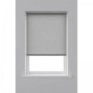 Rolgordijn Lichtdoorlatend Structuur - Grijs - 150 x 190