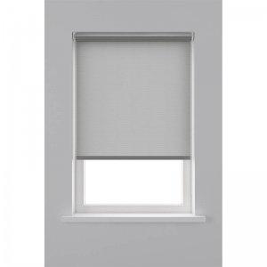 Rolgordijn Lichtdoorlatend Structuur Streep - Grijs - 80 x 190