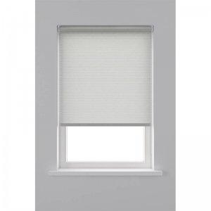 Rolgordijn Lichtdoorlatend Structuur Streep - Wit - 80 x 190