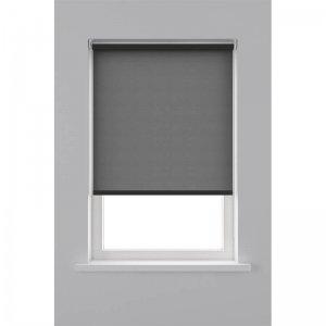 Rolgordijn Lichtdoorlatend - Zwart - 90 x 190