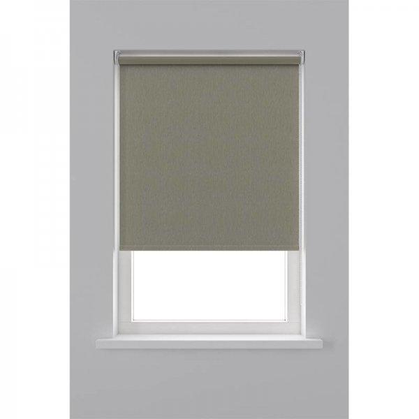 Rolgordijn Verduisterend Structuur - Warm Grijs - 90 x 190