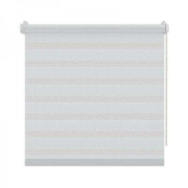 Roljaloezie Draaikiepraam Lichtdoorlatend Structuur - Grijs/Wit - 90 x 190