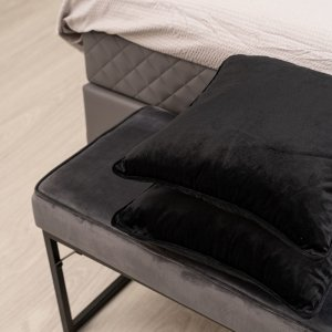 Sierkussenhoes Black Velvet - Zilver