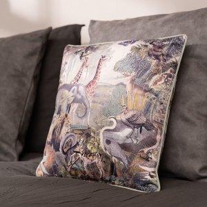 Sierkussenhoes Savannah - Warm grijs - Grijs