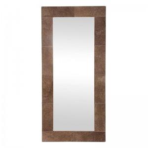 Spiegel Lynne - Beige Leder - 58 x 160 cm - Bruin