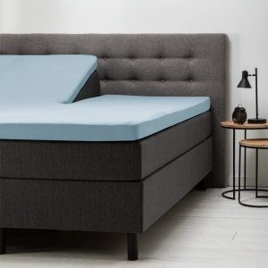 Split- Topper Hoeslaken Katoen - Blauw - 160 x 200