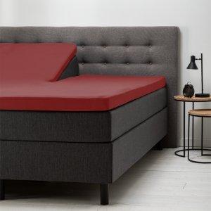 Split- Topper Hoeslaken Katoen - Rood - 180 x 210