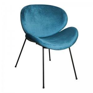 Stoel Janne - Velvet Turquoise - Blauw